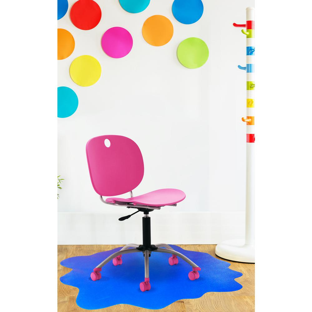"""Multi-Purpose High Chair / Play Mat. Gripper back for use on carpets. Caribbean Blue. 40"""" x 40"""" (max). Picture 4"""
