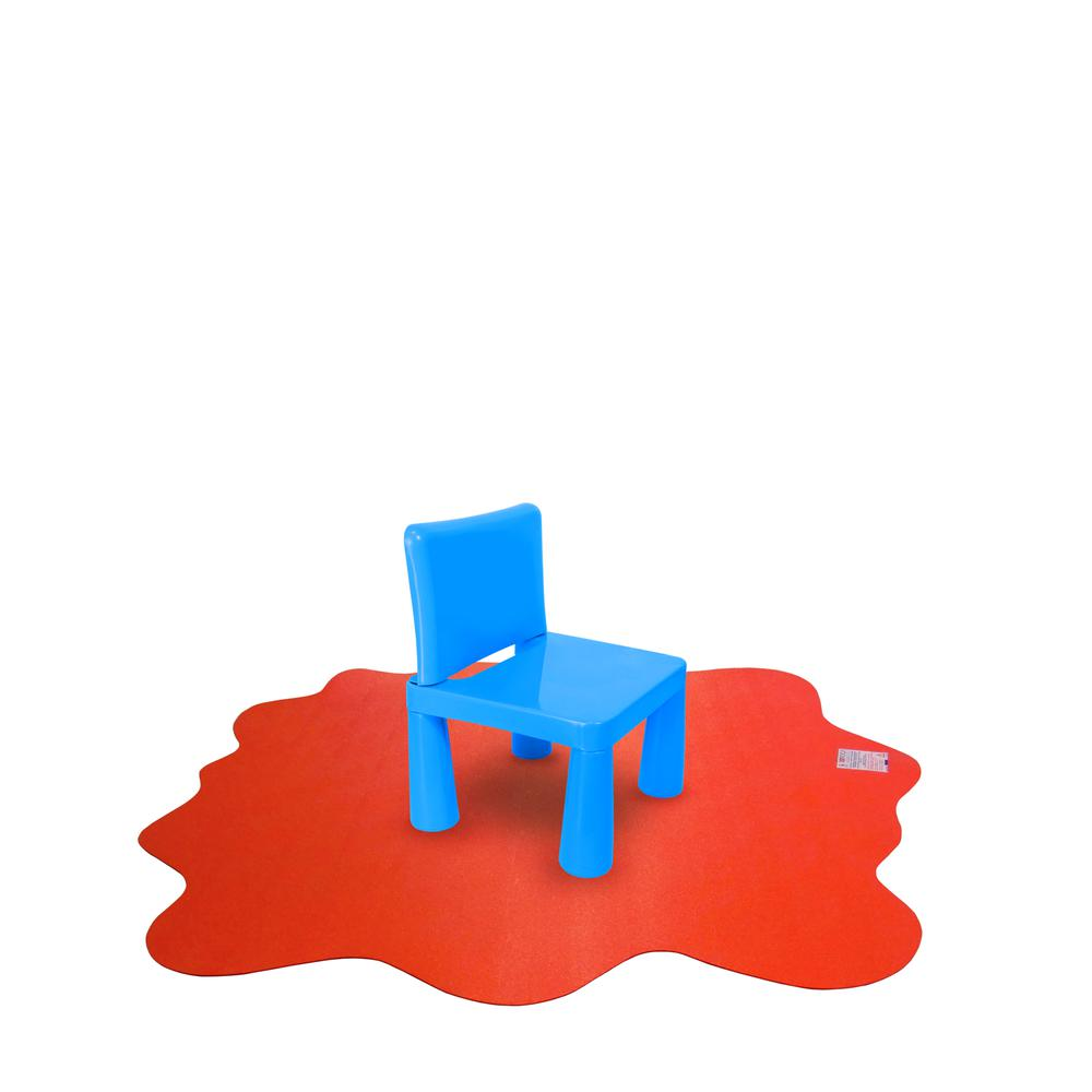 """Multi-Purpose High Chair / Play Mat. Gripper back for use on carpets. Volcanic Red. 40"""" x 40"""" (max). Picture 10"""