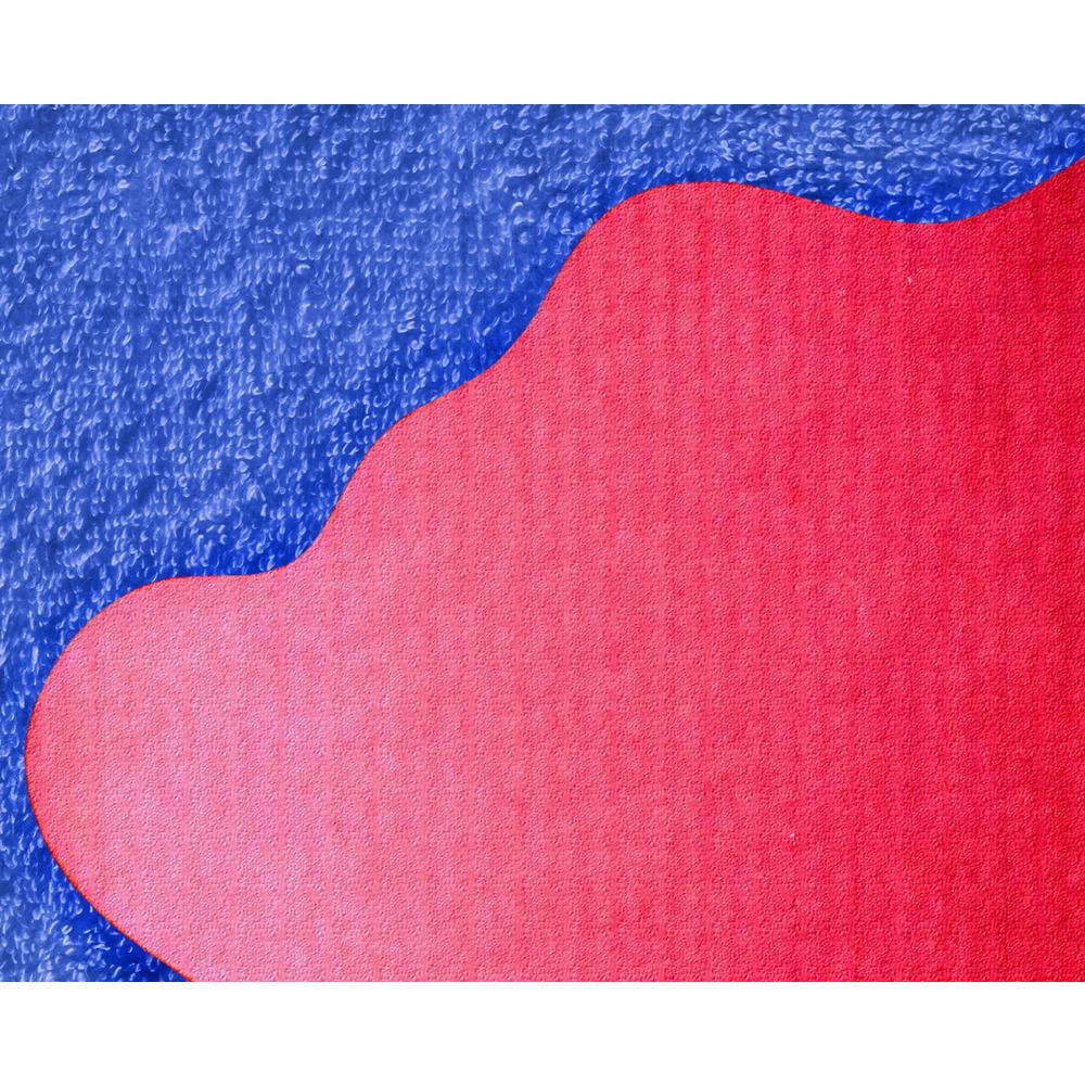 """Multi-Purpose High Chair / Play Mat. Gripper back for use on carpets. Volcanic Red. 40"""" x 40"""" (max). Picture 8"""