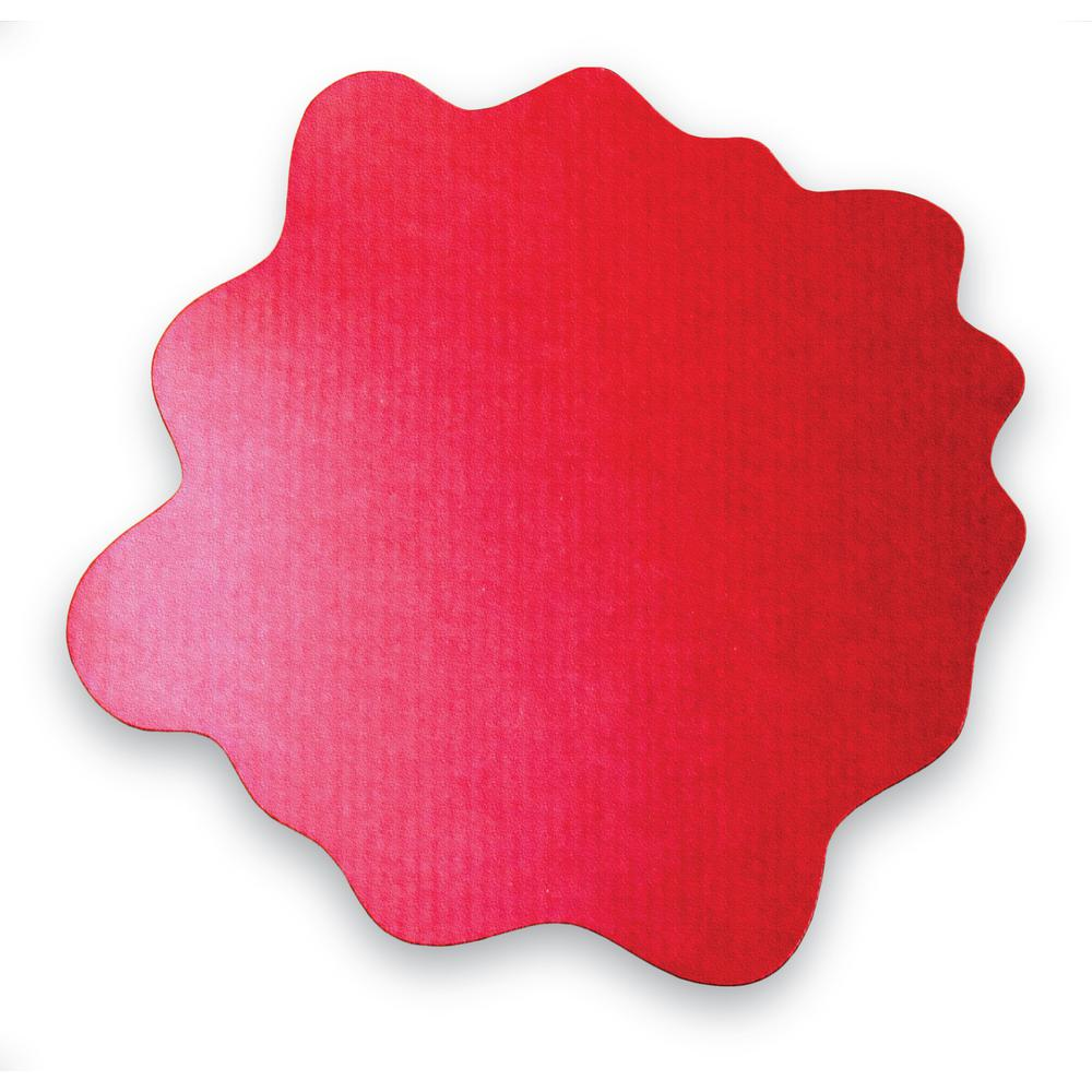 """Multi-Purpose High Chair / Play Mat. Gripper back for use on carpets. Volcanic Red. 40"""" x 40"""" (max). Picture 1"""