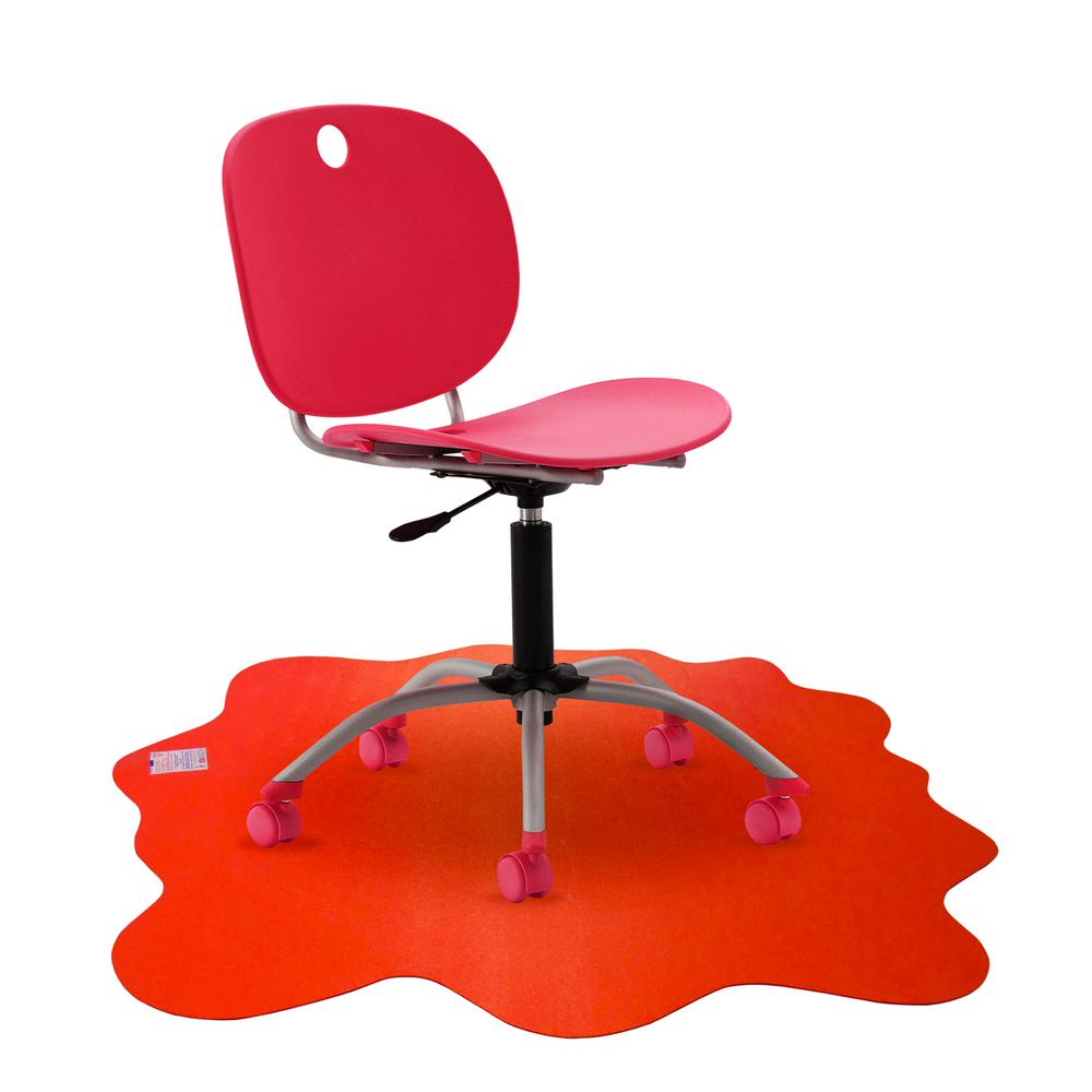 """Multi-Purpose High Chair / Play Mat. Gripper back for use on carpets. Volcanic Red. 40"""" x 40"""" (max). Picture 4"""