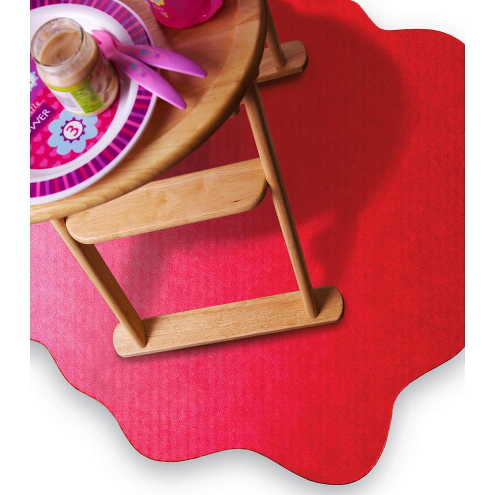 "Multi-Purpose High Chair / Play Mat. Smooth back for use on hard floors. Volcanic Red. 40"" x 40"" (max). Picture 6"