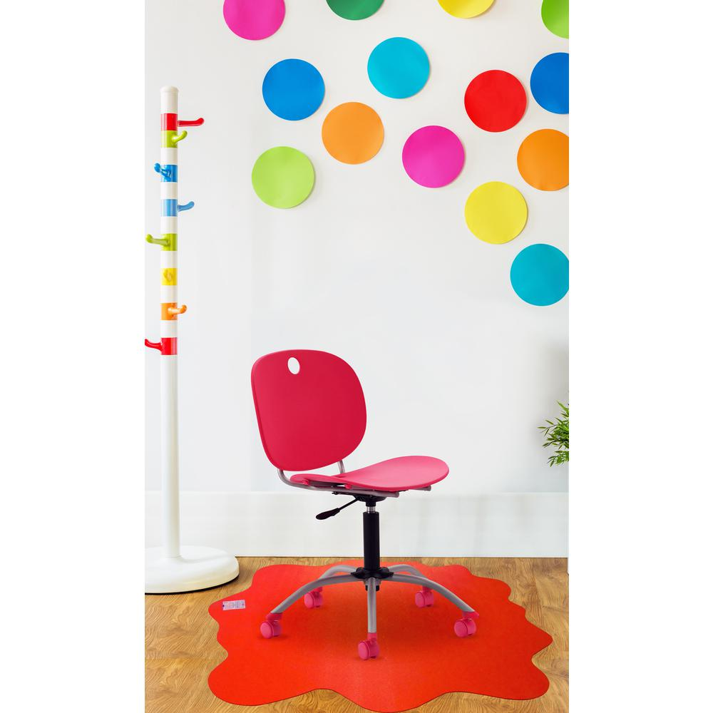"Multi-Purpose High Chair / Play Mat. Smooth back for use on hard floors. Volcanic Red. 40"" x 40"" (max). Picture 4"