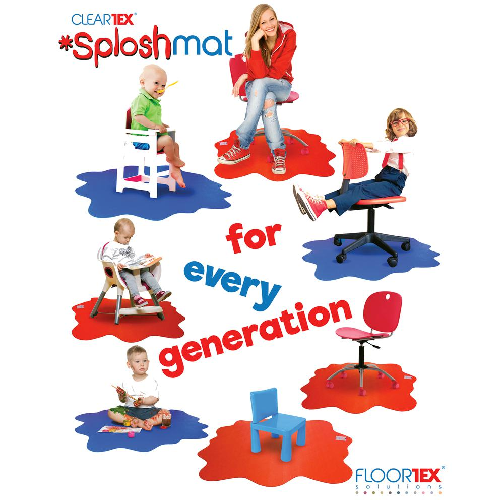 "Multi-Purpose High Chair / Play Mat. Smooth back for use on hard floors. Volcanic Red. 40"" x 40"" (max). Picture 2"