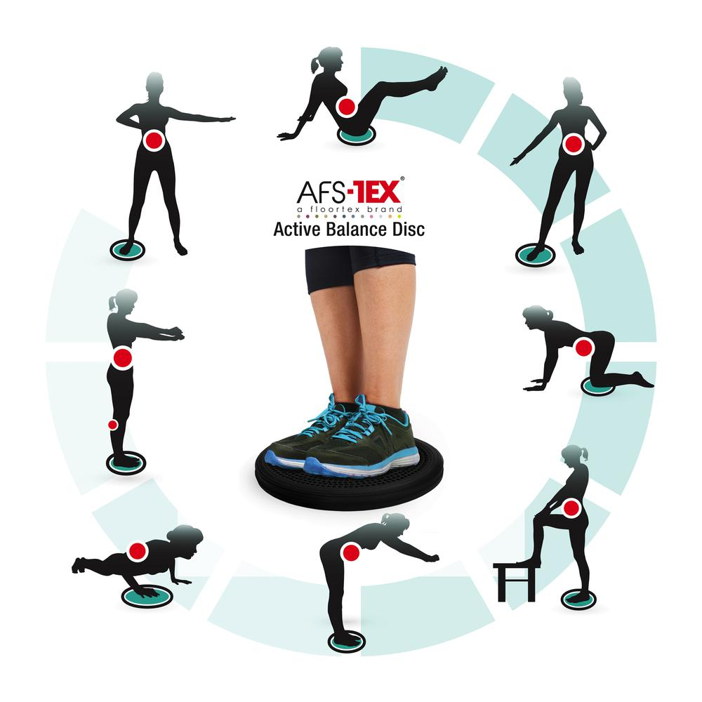 AFS-TEX® Active Anti-Microbial Heavy Duty Home Exercise Wobble Cushion Balance Disc & Pump. Picture 5