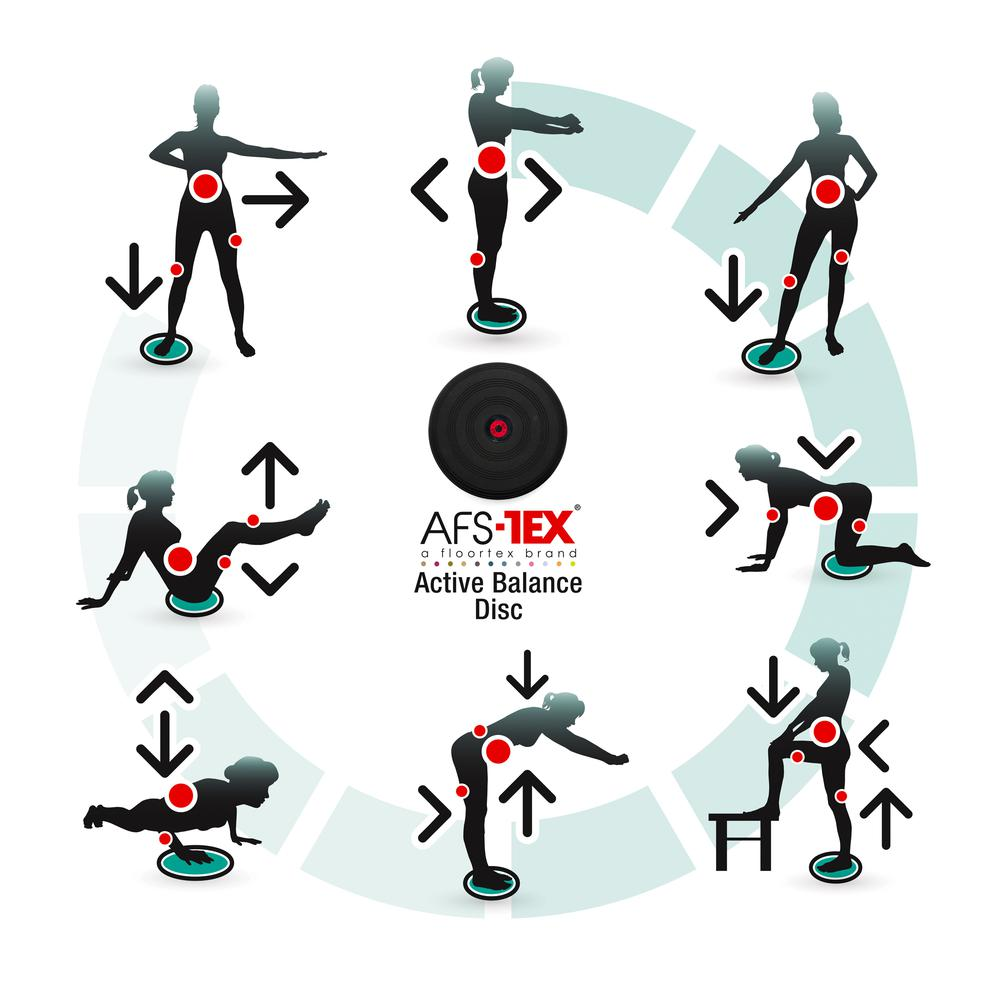 AFS-TEX® Active Anti-Microbial Heavy Duty Home Exercise Wobble Cushion Balance Disc & Pump. Picture 6