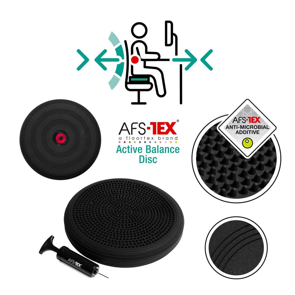 AFS-TEX® Active Anti-Microbial Heavy Duty Home Exercise Wobble Cushion Balance Disc & Pump. Picture 8