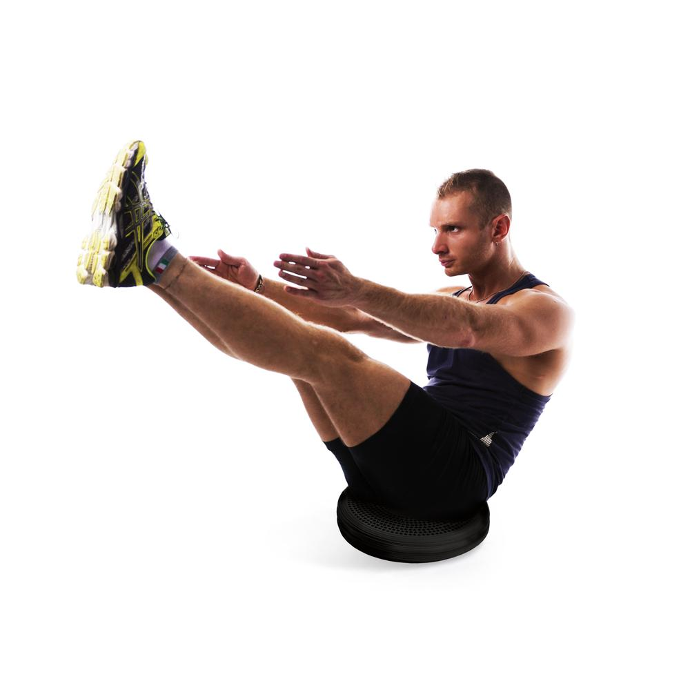 AFS-TEX® Active Anti-Microbial Heavy Duty Home Exercise Wobble Cushion Balance Disc & Pump. Picture 10