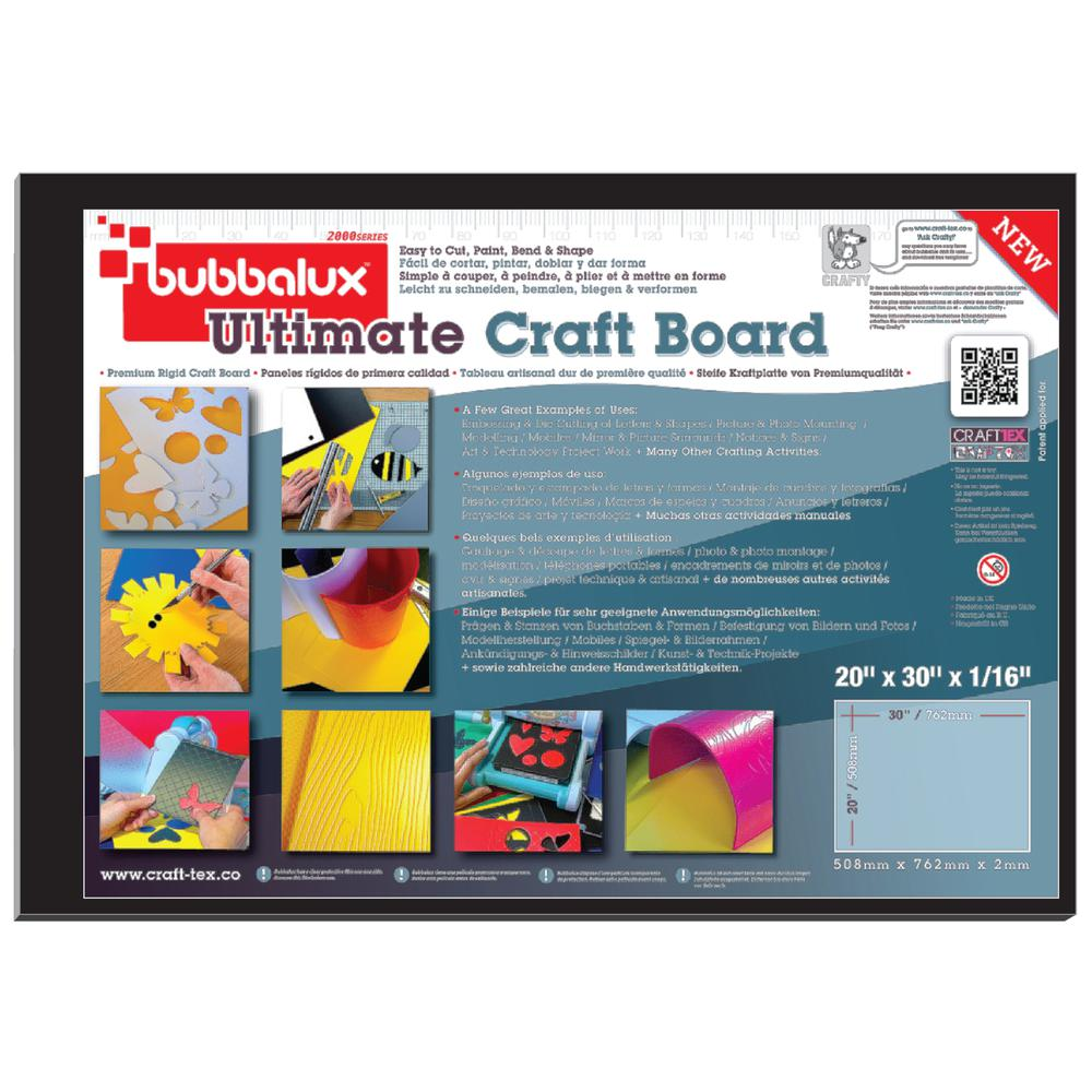 """CraftTex, Bubbalux Ultimate Creative Craft Board, Midnight Black, Single Sheet, Large Size 20"""" x 30"""". Picture 2"""