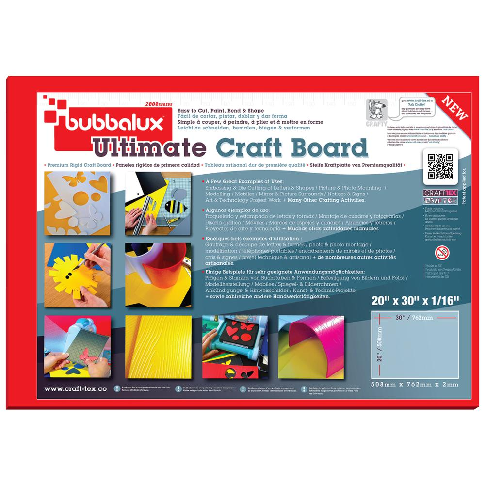 """CraftTex, Bubbalux Ultimate Creative Craft Board, Heart Red, Single Sheet, Large Size 20"""" x 30"""". Picture 2"""