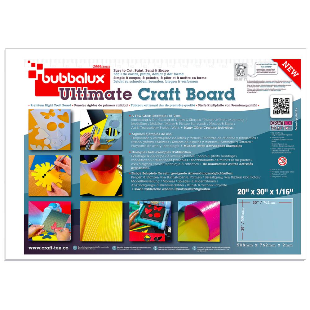 """CraftTex Bubbalux, Ultimate Creative Craft Board, Arctic White, Single Sheet, Large Size 20"""" x 30"""". Picture 2"""