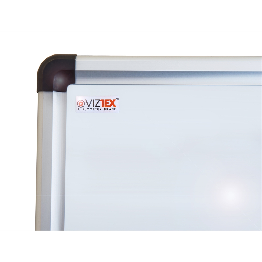 """Viztex Lacquered Steel Magnetic Dry Erase Board with an Aluminium frame (24""""x18""""). Picture 2"""