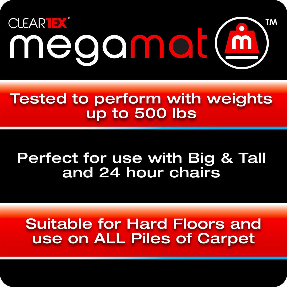 """Cleartex MegaMat, Heavy Duty Chair Mat, for Hard Floors or Carpets, Size 35"""" x 47"""". Picture 2"""