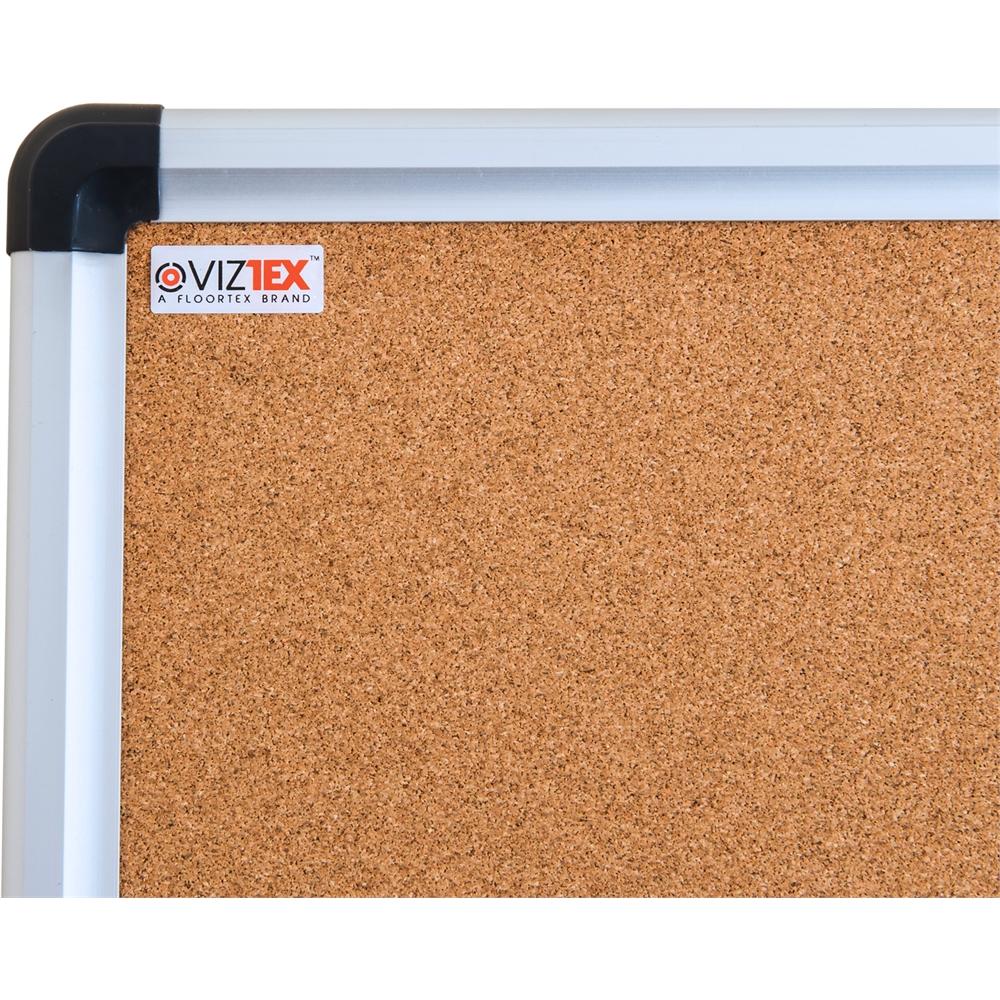 "Viztex Cork Bulletin Board with an Aluminium Trim (48""x36""). Picture 2"