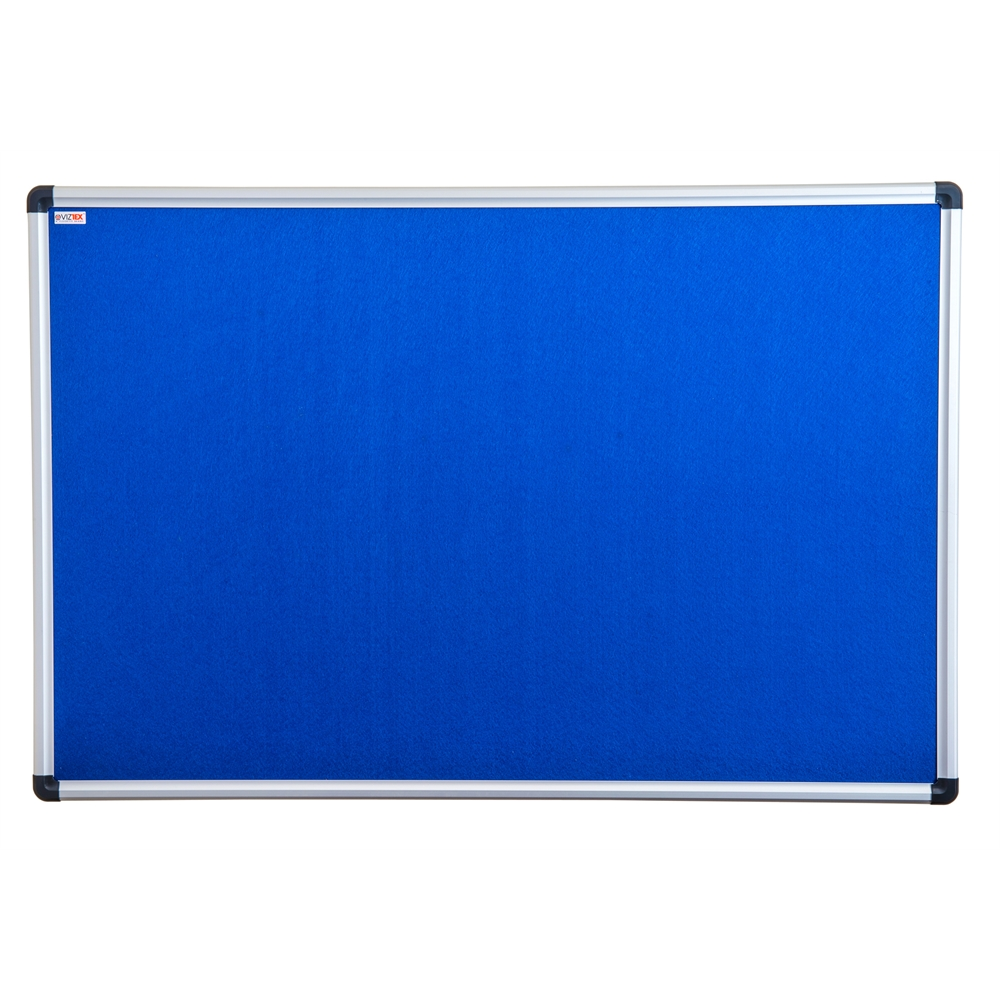 """Viztex Fabric Bulletin Board with an Aluminium frame (24""""x18""""). Picture 1"""