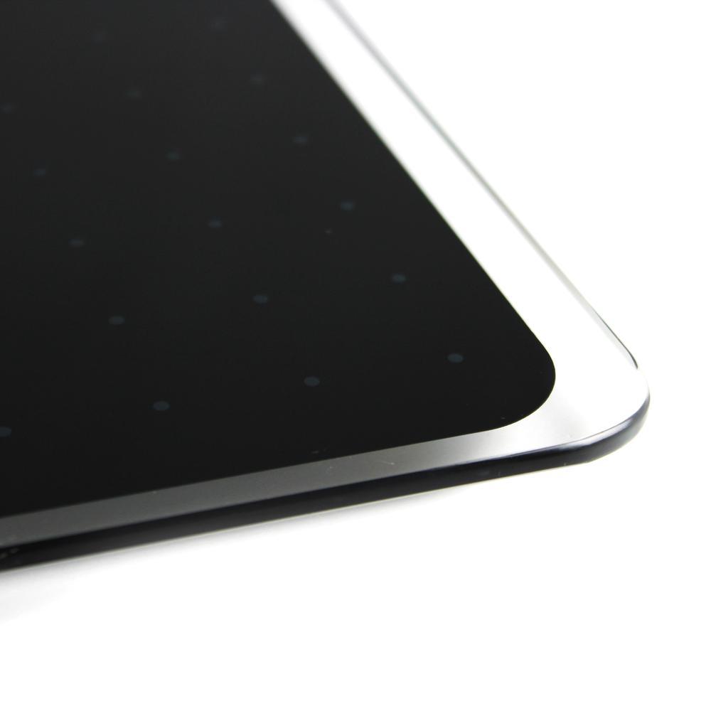 """Black Multi-Purpose Grid Glass Dry Erase Board 14"""" x 14"""". Picture 5"""