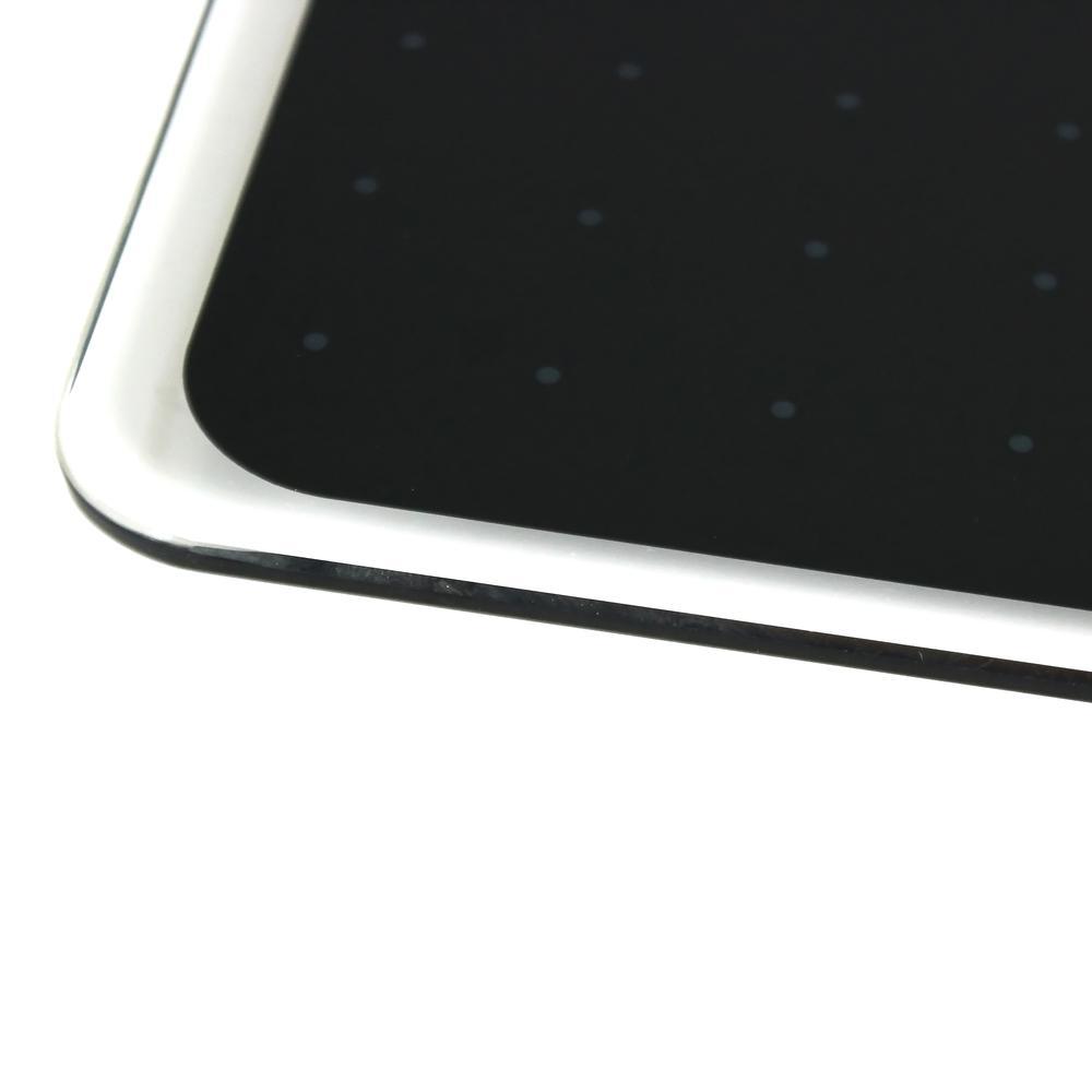 """Black Multi-Purpose Grid Glass Dry Erase Board 14"""" x 14"""". Picture 7"""