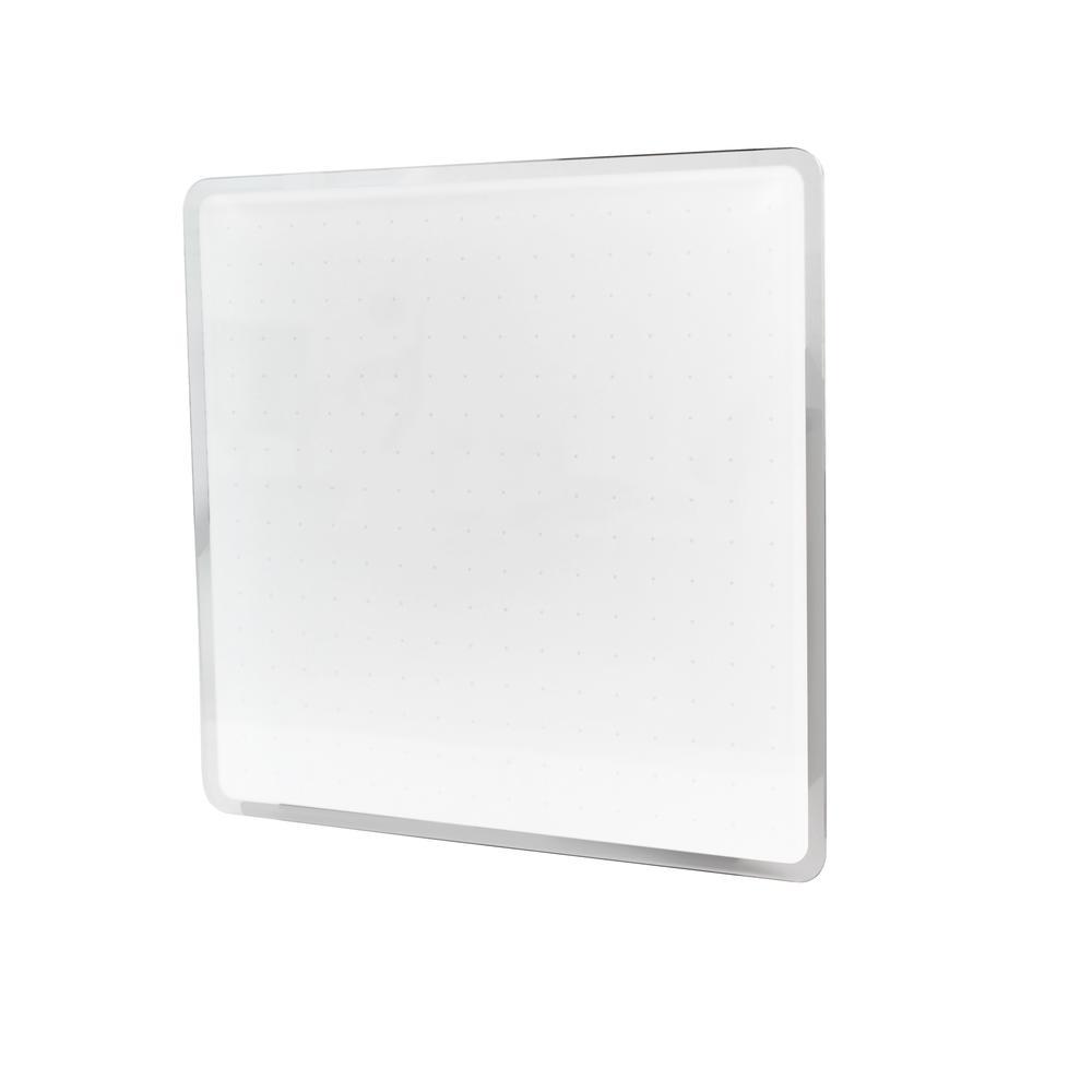 """Black Multi-Purpose Grid Glass Dry Erase Board 14"""" x 14"""". Picture 2"""