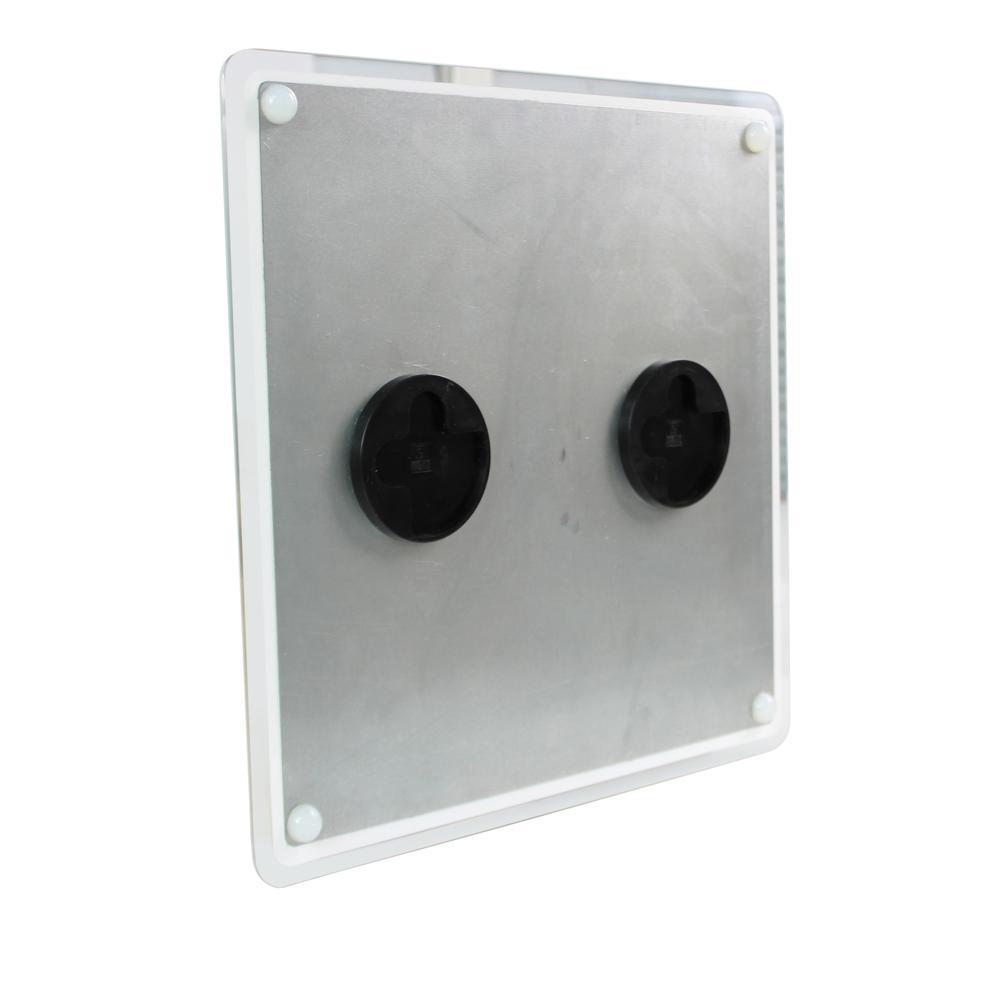 "White & Black Plan & Grid Glass Dry Erase Board - 14"" x 14"". Picture 3"