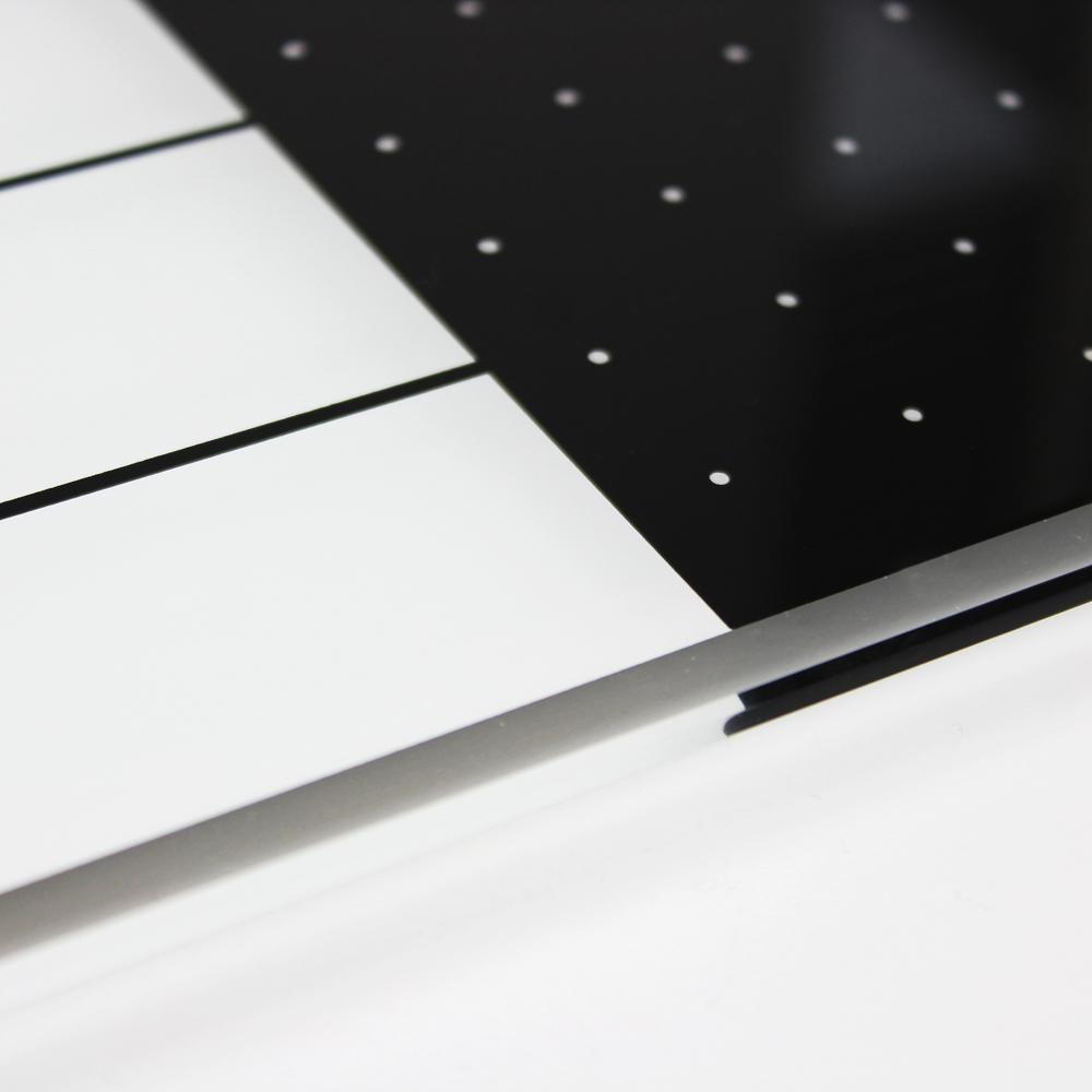 "White & Black Plan & Grid Glass Dry Erase Board - 14"" x 14"". Picture 9"