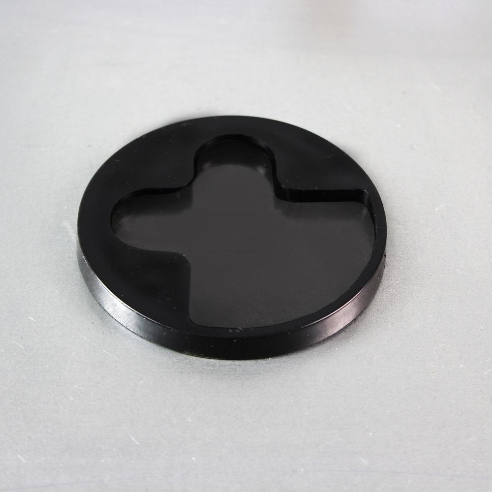 "White & Black Plan & Grid Glass Dry Erase Board - 14"" x 14"". Picture 11"