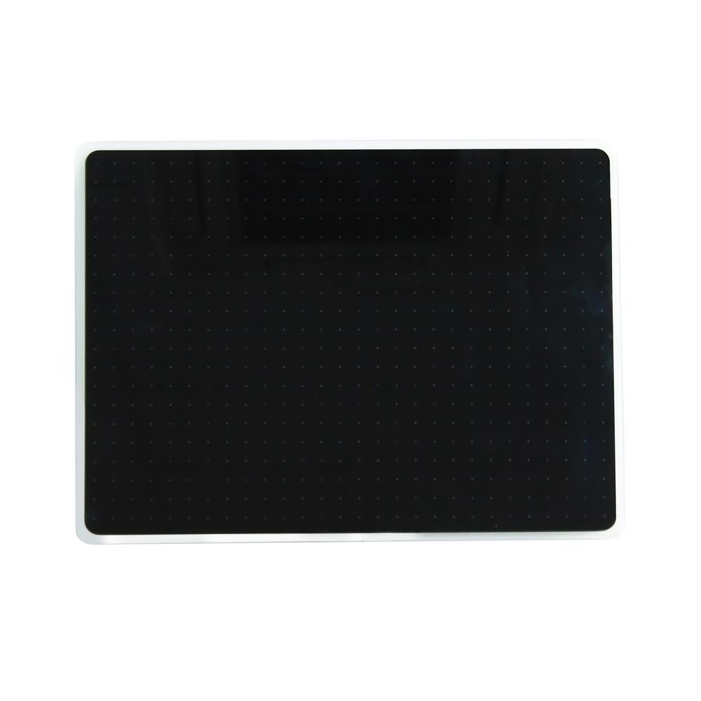"Black Multi-Purpose Grid Glass Dry Erase Board 17"" x 23"". Picture 4"