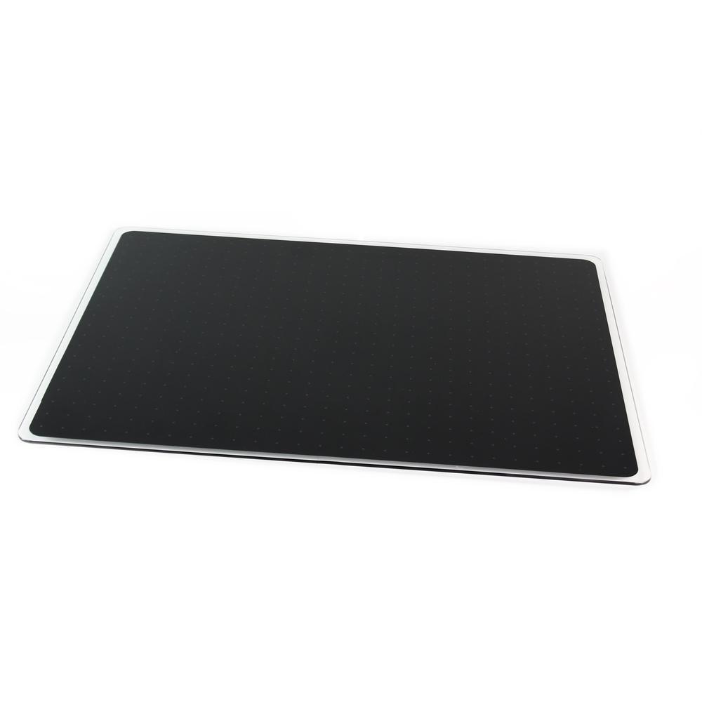 """Black Multi-Purpose Grid Glass Dry Erase Board 30"""" x 40"""". Picture 4"""