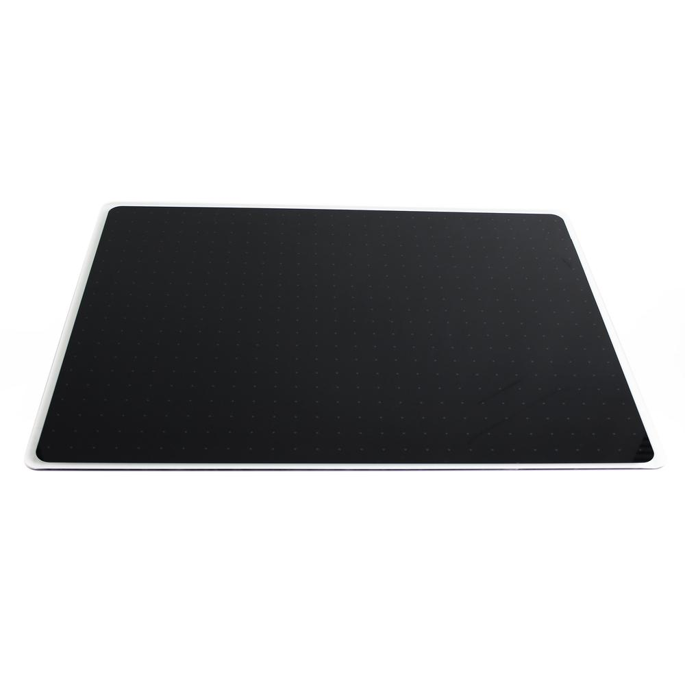 """Black Multi-Purpose Grid Glass Dry Erase Board 30"""" x 40"""". Picture 7"""