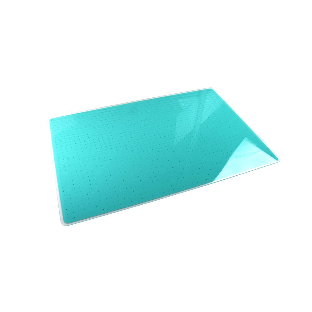 "Teal Multi-Purpose Grid Glass Dry Erase Board 30"" x 40"". Picture 6"