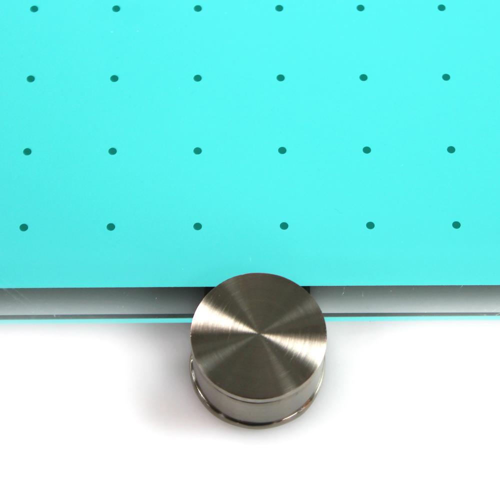 "Teal Multi-Purpose Grid Glass Dry Erase Board 30"" x 40"". Picture 8"