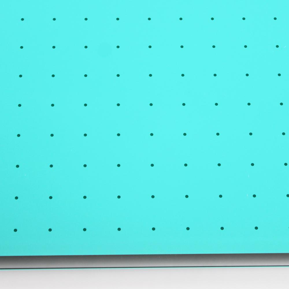 "Teal Multi-Purpose Grid Glass Dry Erase Board 30"" x 40"". Picture 10"