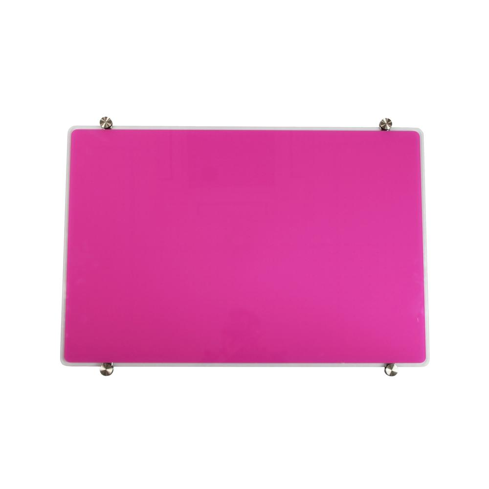 "Violet Multi-Purpose Grid Glass Dry Erase Board 30"" x 40"". Picture 2"