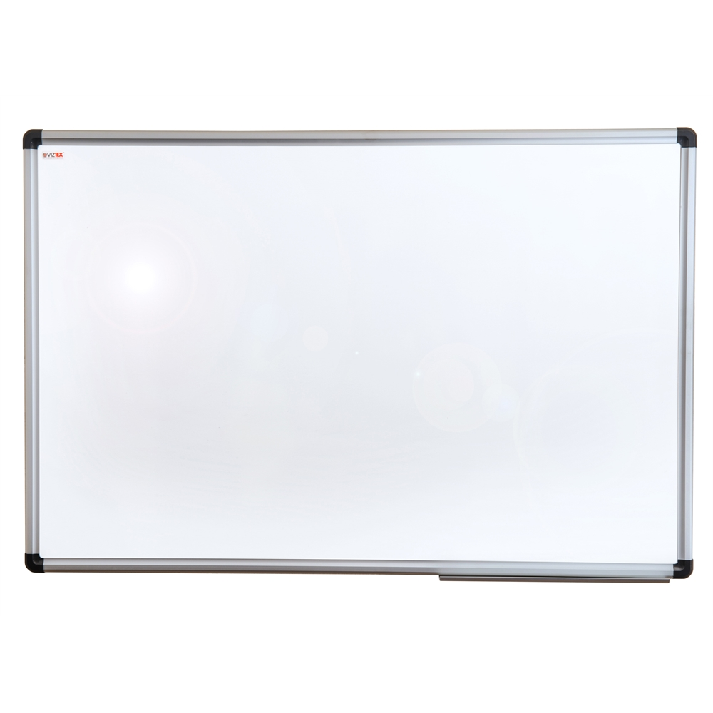 """Viztex Lacquered Steel Magnetic Dry Erase Board with an Aluminium frame (24""""x18""""). Picture 1"""