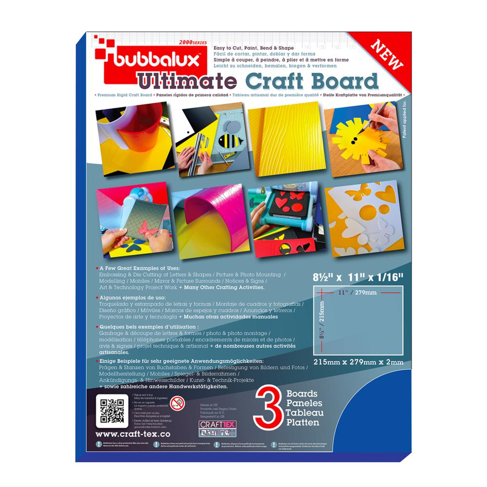 CraftTex, Bubbalux Ultimate Creative Craft Board, Marine Blue, Pack of 3 Letter Size Sheets. Picture 3