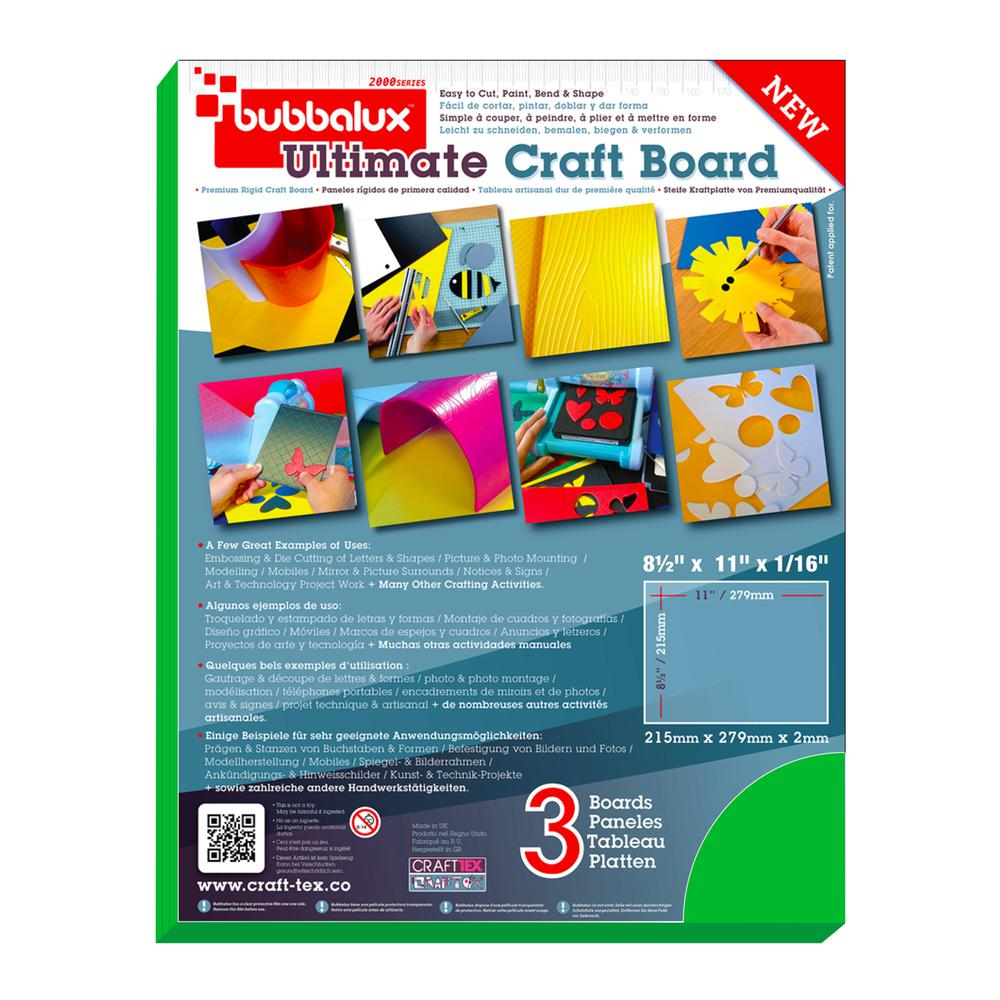 CraftTex, Bubbalux Ultimate Creative Craft Board, Forest Green, Pack of 3 Letter Size Sheets. Picture 2