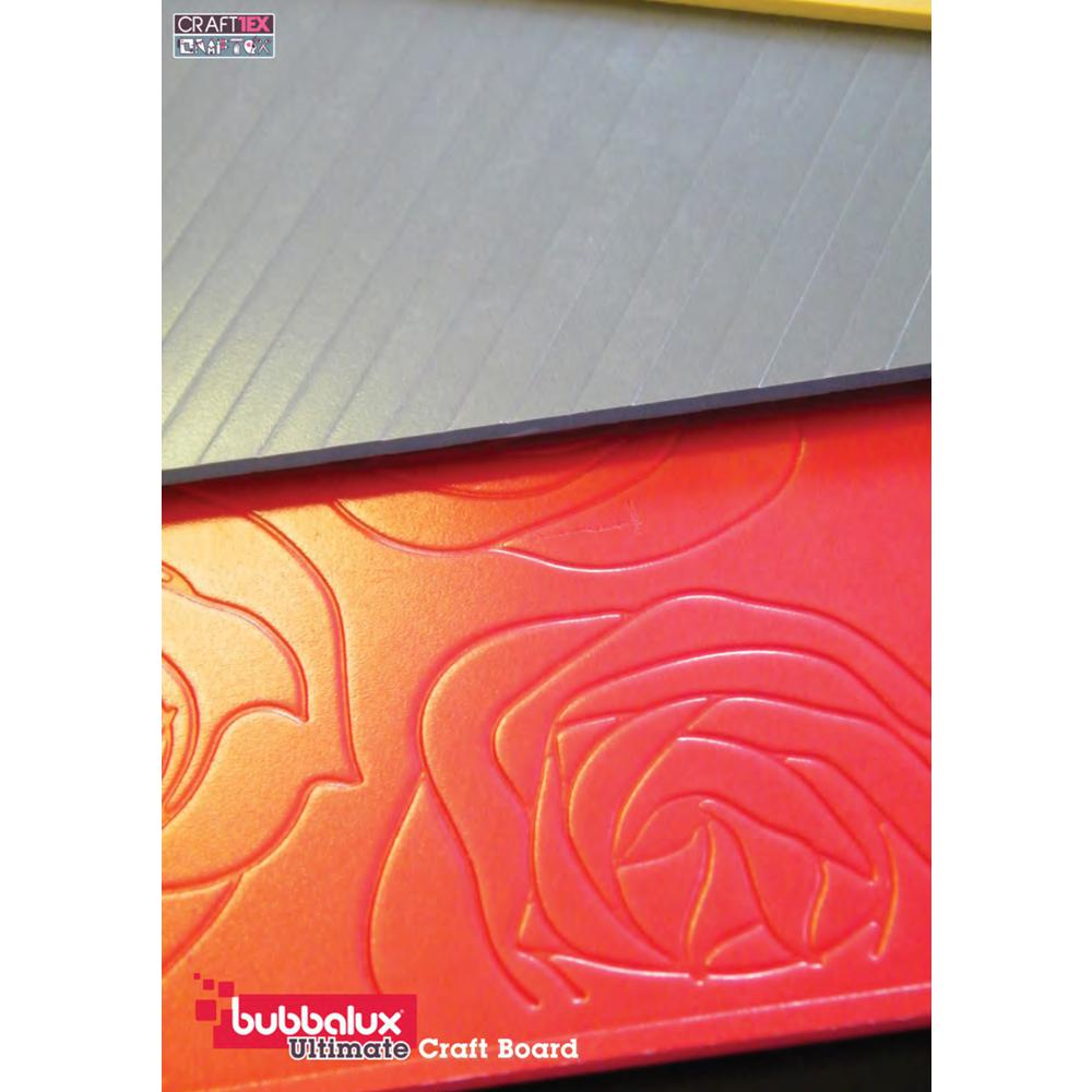 CraftTex Bubbalux, Ultimate Creative Craft Board, Heart Red, Pack of 3 Letter Size Sheets. Picture 1