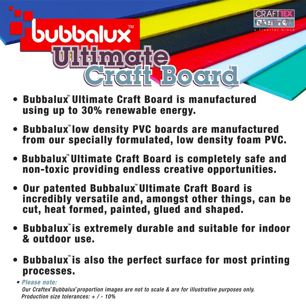 CraftTex Bubbalux, Ultimate Creative Craft Board, Heart Red, Pack of 3 Letter Size Sheets. Picture 10
