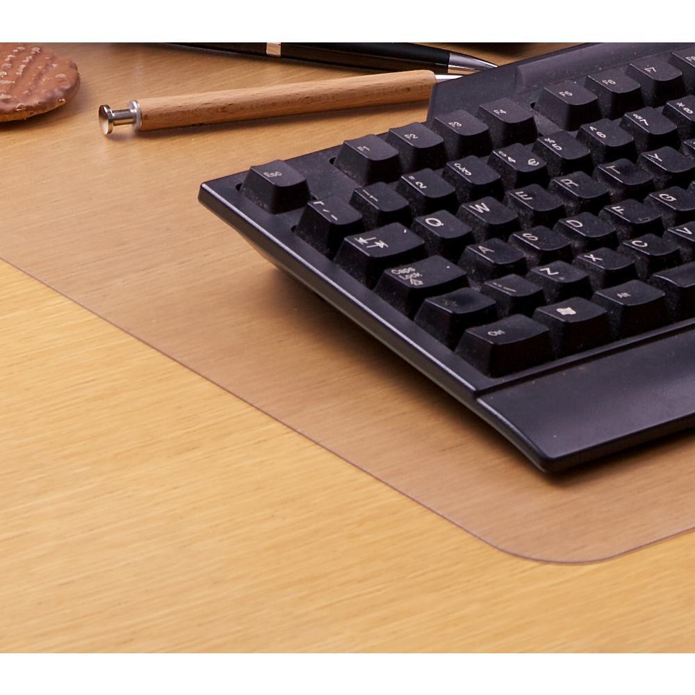 "Desktex, Pack of 2 Desk Protector Mats, Strong Polycarbonate, Rectangular, Size 17"" x 22"". Picture 3"