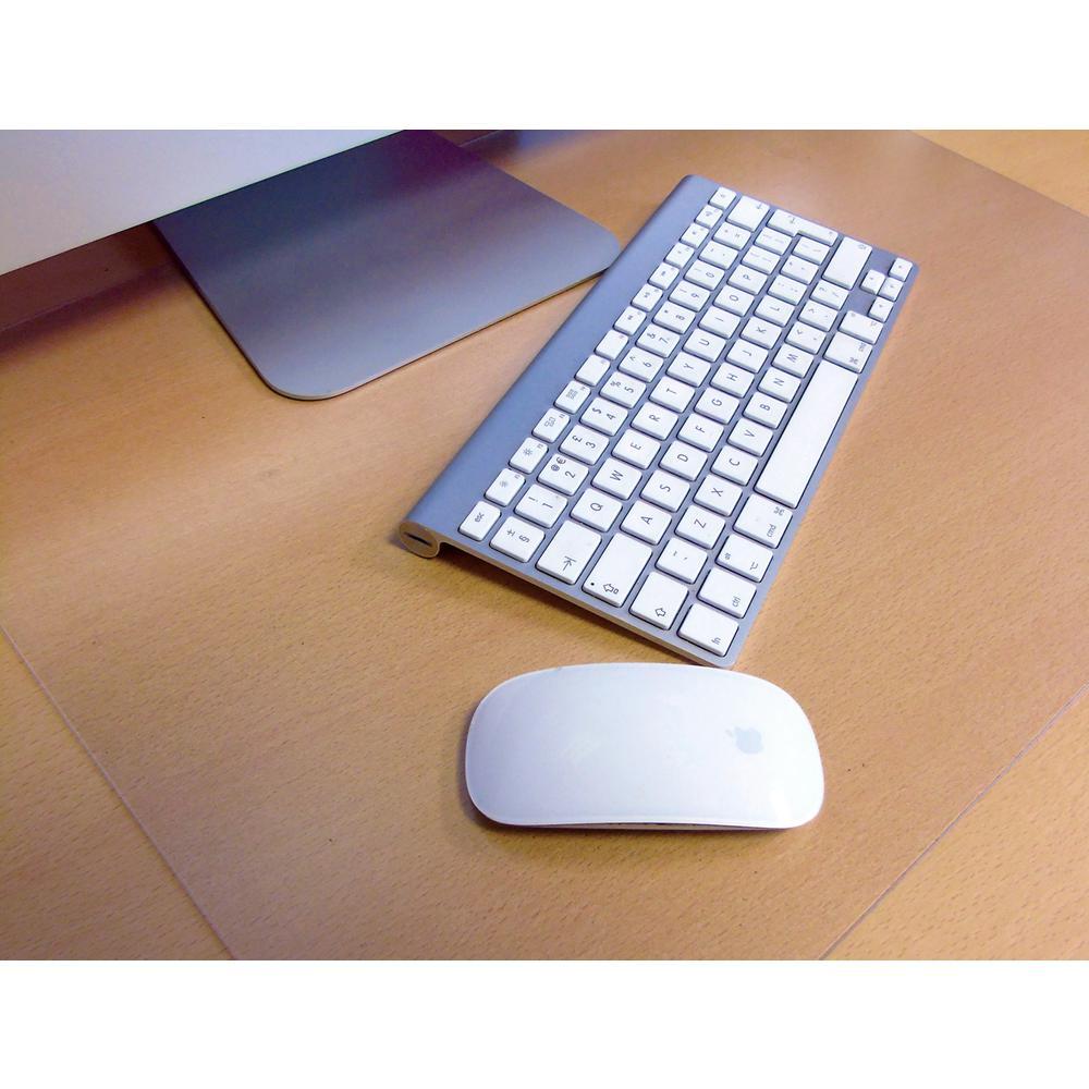 "Desktex, Pack of 2 Desk Protector Mats, Strong Polycarbonate, Rectangular, Size 19"" x 24"". Picture 1"
