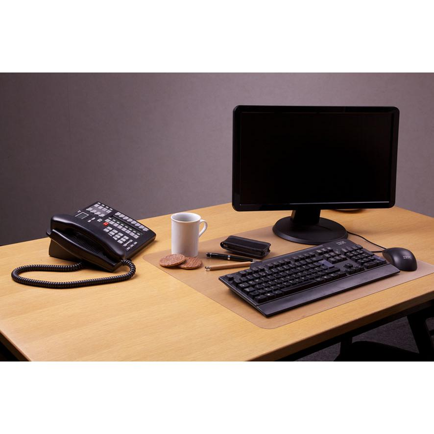"Desktex, Desk Protector Mat, Anti-Slip and Super-Strong Polycarbonate, Rectangular, Size 29"" x 59"". Picture 2"