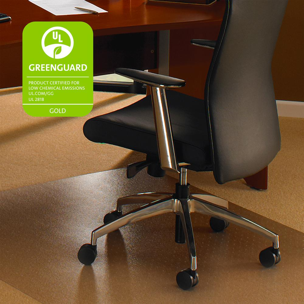"Cleartex XXL General Office Mat, Rectangular, Strong Polycarbonate, For Carpets, Size 60"" x 79"". Picture 1"
