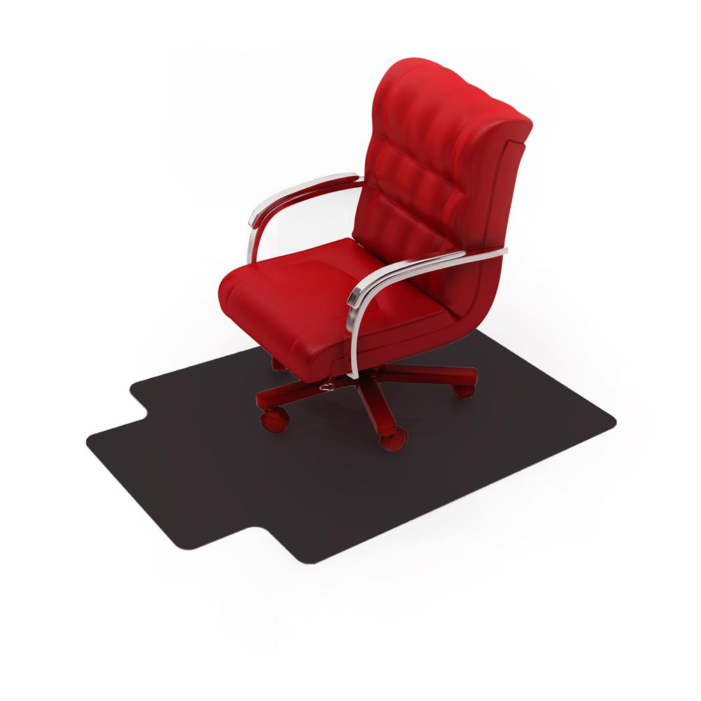 """Vinyl Lipped Chair Mat for Hard Floor - 45"""" x 53"""". Picture 3"""