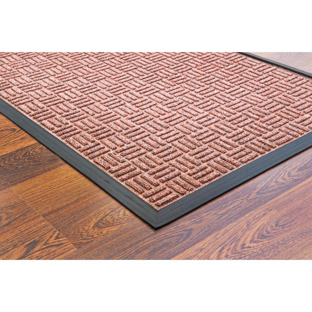 """Doortex Ribmat heavy duty Indoor / Outdoor Entrance mat in Brown (48""""x72""""). Picture 2"""