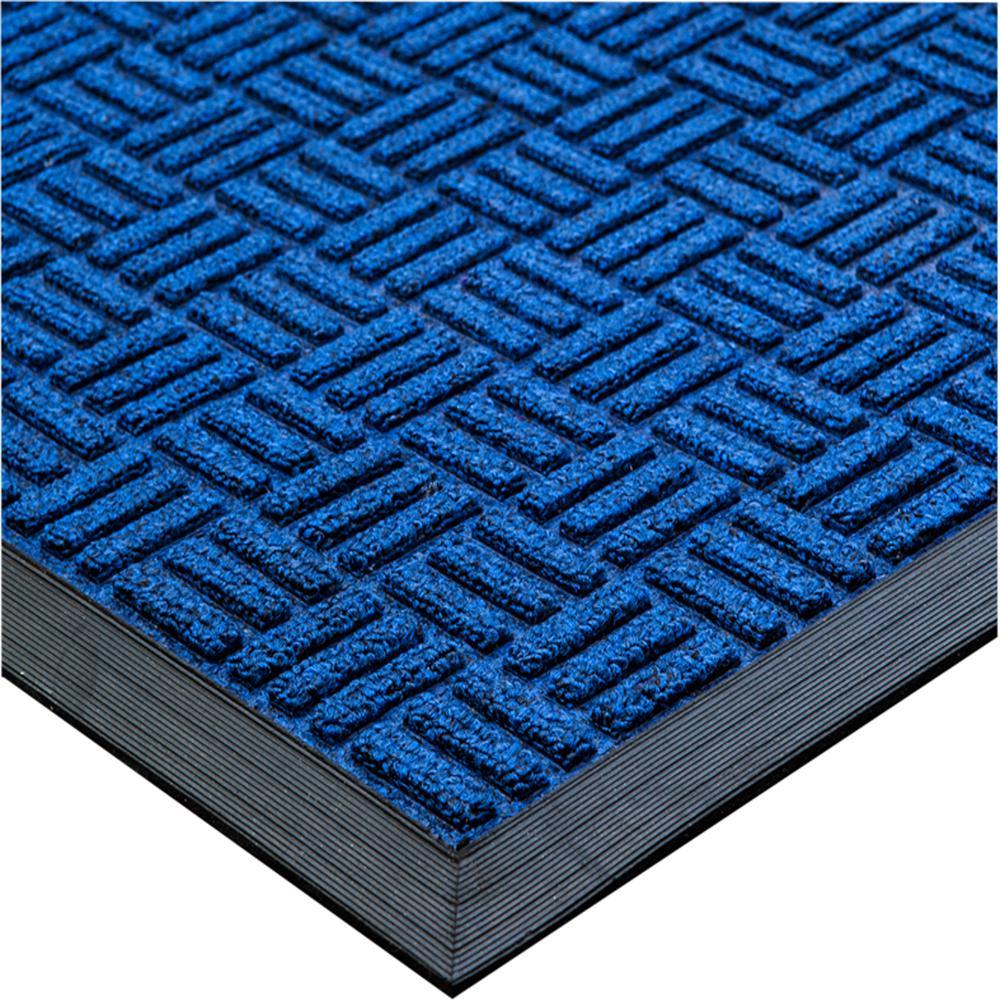 """Doortex Ribmat heavy duty Indoor / Outdoor Entrance mat in Blue (24""""x36""""). Picture 1"""