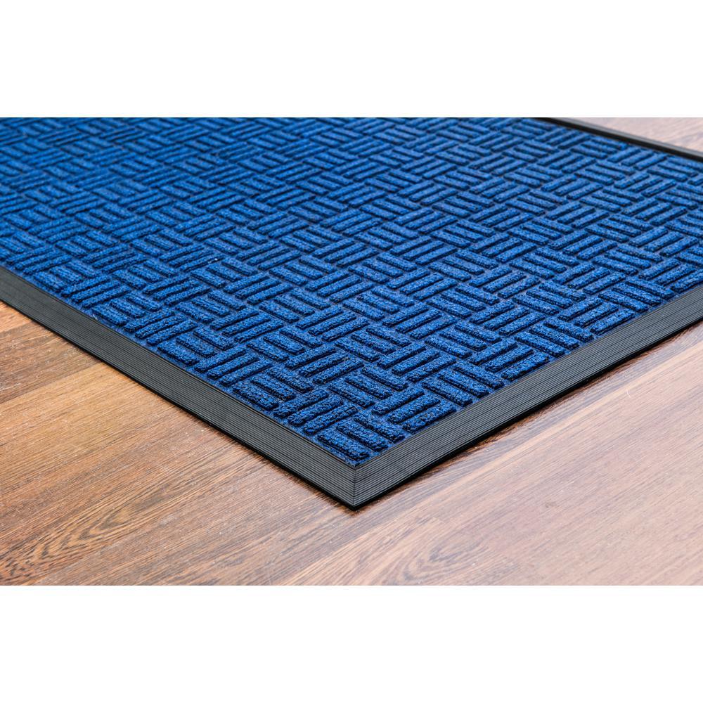 """Doortex Ribmat heavy duty Indoor / Outdoor Entrance mat in Blue (24""""x36""""). Picture 2"""