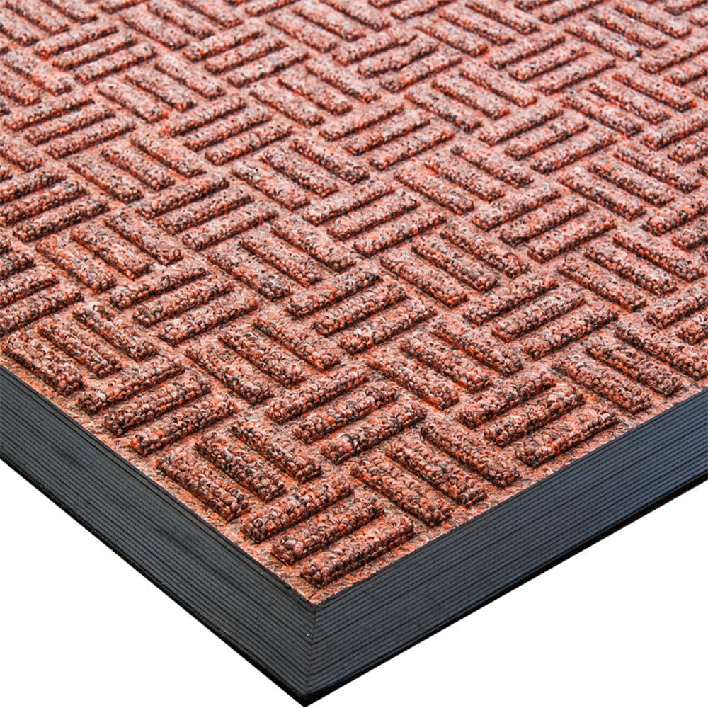 """Doortex Ribmat heavy duty Indoor / Outdoor Entrance mat in Brown (32""""x48""""). Picture 1"""