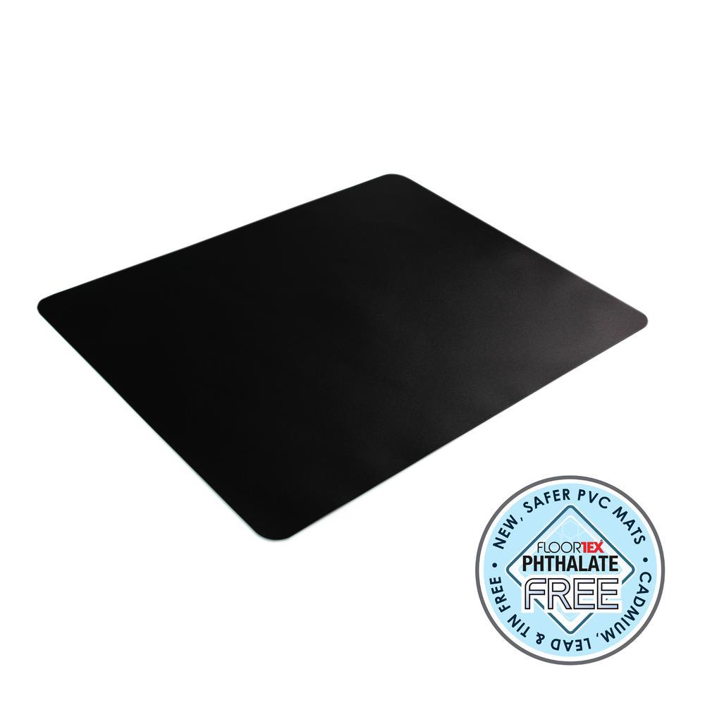 """Black Vinyl Rectangular Desk Pad - 20"""" x 36"""". Picture 2"""