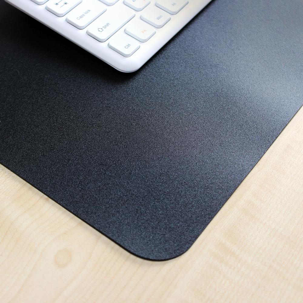 """Black Vinyl Rectangular Desk Pad - 20"""" x 36"""". Picture 7"""