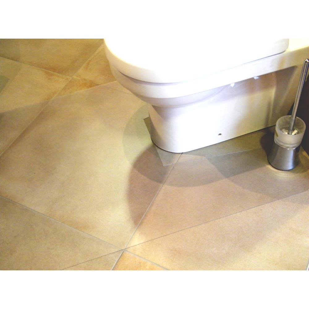 """Hometex Biosafe, Anti Microbial Toilet Floor Mat, Rectangular with Cut Out, Size 48"""" x 24"""". Picture 3"""