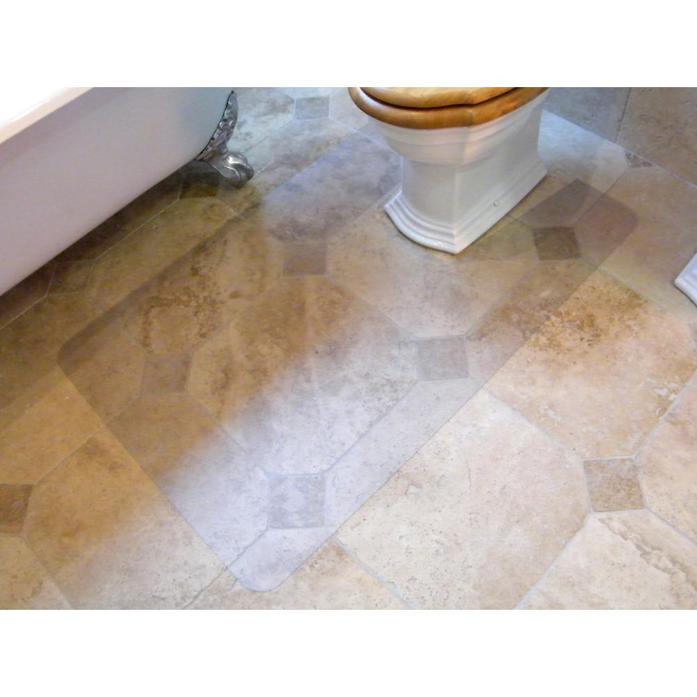 """Hometex Biosafe, Anti Microbial Toilet Floor Mat, Rectangular with Cut Out, Size 48"""" x 24"""". Picture 2"""